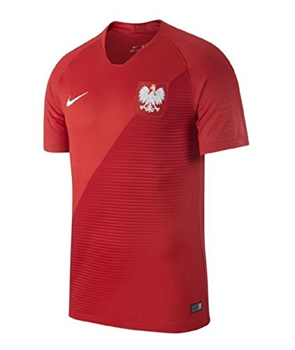 Nike Herren Poland Away Stadium T-Shirt, Sport Red/Gym Red/White, S