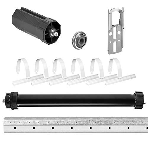 NOBILY Rolladen-Komplett-Set Maxi-Rolladenmotor P5 20/15-60 mechanischen Endabschaltern (Zugkraft 20Nm/50kg) für 60mm Achtkantwelle (SW60) + Rolladen Mechanik-Set inkl. 2,00m Welle