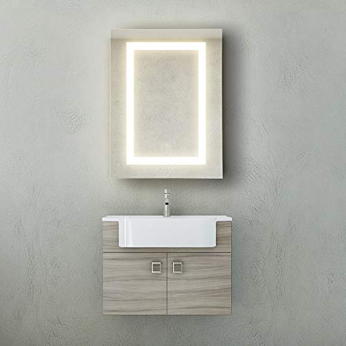 GetInLight LED Wall Mounted Lighted Bathroom Medicine Cabinet, 18 x 24 Inch, Touch Sensor Dimming, 3000K(Soft White), ETL Listed, Damp Location Rated, IN-0408-1-18-24-3K