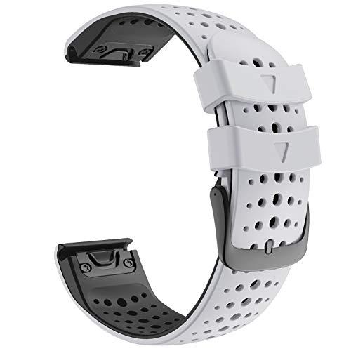 ANBEST Cinturino in Silicone da 22mm Compatibile con Bracciale Fenix 6/Fenix 5/Fenix 6 PRO/Fenix 5 Plus, Cinghia di Ricambio a Sgancio Rapido per Orologio Intelligente Forerunner 935/945
