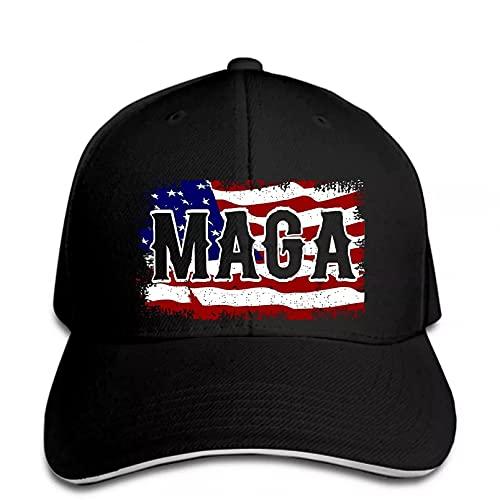 Lepilo Gorra de béisbol con visera blanca lateral Sandwich BB, gorra de béisbol con texto 'Make America Great Again President Print' tiene el sol tiene un regalo