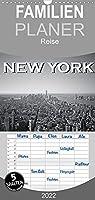 New York in schwarz weiss - Familienplaner hoch (Wandkalender 2022 , 21 cm x 45 cm, hoch): So aussergewoehnlich wie der Big Apple, sind auch diese Bilder in schwarz weiss. (Monatskalender, 14 Seiten )