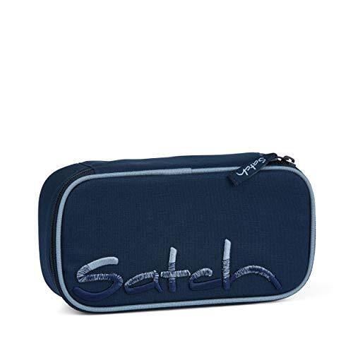 Satch Schlamperbox - Mäppchen groß, Trennfach, Geodreieck - Solid Blue - Blau