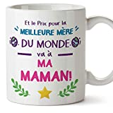Mugffins Tasse/Mug pour Maman – Prix Pur la Meilleure Mère (modèle 4) – Idée Cadeau Fête des Mères/Anniversaire Originale