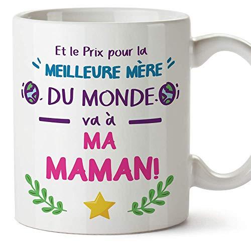 Mugffins Tasse/Mug pour Maman - Prix Pur la Meilleure Mère (modèle 4) - Idée Cadeau Fête des Mères/Anniversaire Originale