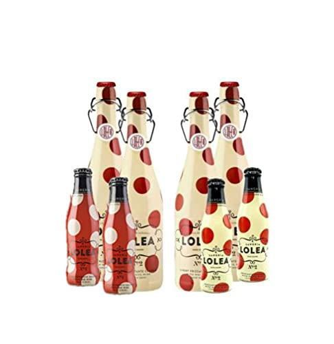 Lolea 4er Set Sangria N°2 WEIß 0,75L (7% Vol) 4x Weißwein Sangria Chardonnay + 4 Minis GRATIS 2x ROSE 0,2L (8% Vol) 2x WEIß 0,2L (7% Vol)- [Enthält Sulfite]