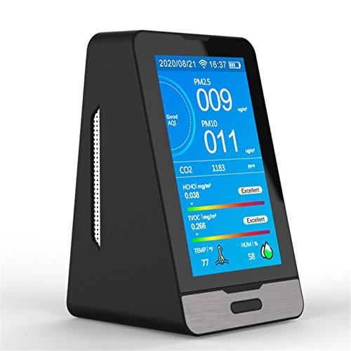 4YANG Monitor de calidad del aire interior de 4.3 pulgadas, sensor de contaminación con pantalla colorida, versión WiFi multifuncional portátil, monitor de calidad del aire en tiempo real