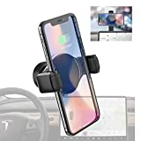 Tesla Model 3 Wireless Charger Phone Holder/Mount for iPhone, Samsung and All, Dashboard/Console 360 Rotation Phone Stand, for Model Y T-Mount by Plafnio