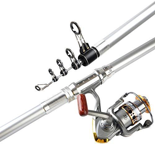 CañA de Pescar Giratoria TelescóPica de 3,6 A 5,4 M, Varillas de Viaje de Agua Dulce de Agua Salada para Pesca de CurricáN, Carbono SúPer Duro