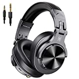 OneOdio DJ用 ヘッドホン Bluetooth モニターヘッドホン 音源ミックス 低音強化 有線 無線 密閉型 FuSion A7 (黒)
