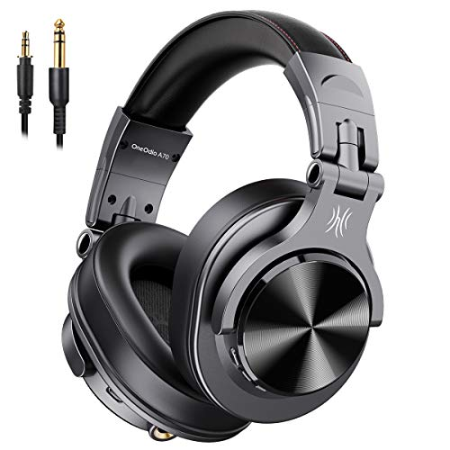 OneOdio ヘッドホン FuSion A7 Bluetooth 5.0 密閉型 50時間再生 AAC対応 マイク付き DJ用/音楽鑑賞/楽器練習/モニタニング/音源ミックス 黒