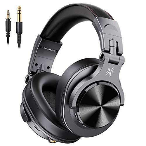 OneOdio 高性能 ヘッドホン Bluetooth モニターヘッドホン 音源ミックス 音楽シェア 低音強化 有線 無線 密...