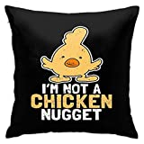 H.Slay Throw Pillow Cover Chicken Nugget Shirt I'm Not A Nugget...