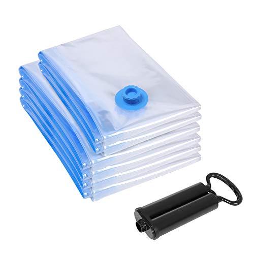 SONGMICS 6 TLG Set Vakuumbeutel für Kleidung mit Pumpe 40 x 60 cm (2 x),60 x 80 cm (4 x) RVM063