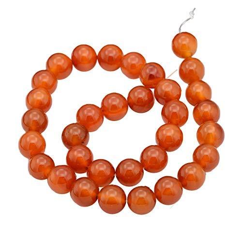 Aproximadamente 38 piezas de cuentas de ágata natural hebras de piedras preciosas redondas para hacer joyas, 10 mm
