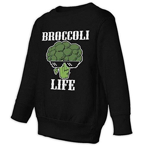 JRJdiy Kids Pullover Hoodie Fleece Broccoli Life Sweatshirt