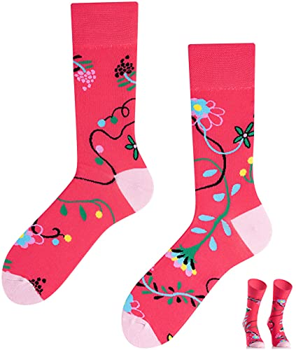 TODO Colours Lustige Socken mit Motiv - Mehrfarbige, Bunte, Verrückte für die Lebensfreude (Blumen Socken, numeric_35)