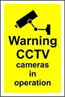 BALTER Warning CCTV cameras in operation ティンサインアンティークプラークヴィンテージアルミニウム壁の装飾 Tin Sign Antique Plaque Vintage Aluminum for Wall Decor 8x12 Inch