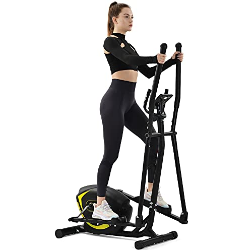 Elliptical Trainer Machine Upright Exercise Bike with 8-Level Magnetic Resistance for Home Gym Cardio Workout