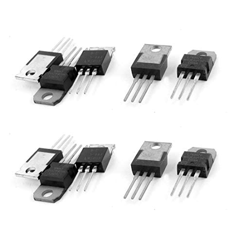 LDEXIN 10pcs 3 Terminals L7805CV Linear Output 1.5A 5V Postive Fixed Radio Frequency Transceivers Voltage Regulators