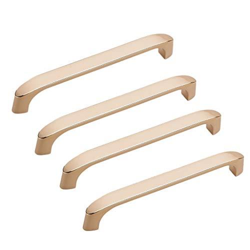 4 manijas de gabinete, palanca de puerta, se puede aplicar a estanterías | armarios de cocina, pomos de cajón, piezas de muebles, manija de puerta (tamaño: A4: distancia entre agujeros de 160 mm)