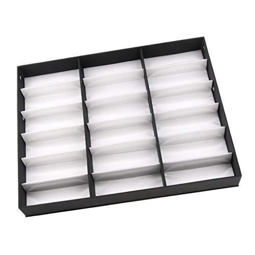 sharprepublic Caja de Almacenamiento de Gafas Estuche para Guardar y Exhibir Gafas/Relojes Caja de Exhibición para Gafas - Blanco, 47 x 37 cm