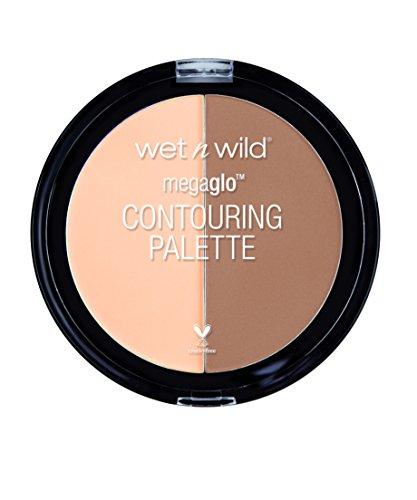 WET N WILD Puder - Megaglo™ Contouring Palette / hochwertiges Puder für Highlight & Contour, Dulce De Leche, 1 Stück, 6g