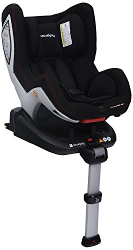 Casualplay Bi-Care Fix - Asiento de coche negro Black on Grey Shell