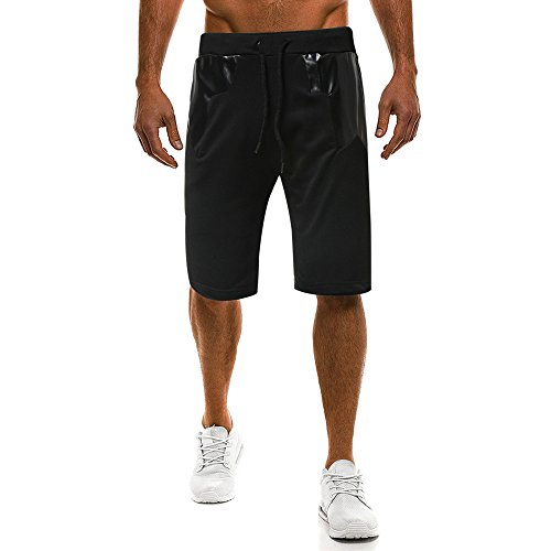 FRAUIT Mannen mode sport shorts bermuda korte broek sweatshort zomer mannen sportshorts plissé kanten up taille broek met koord regular fit training joggen superkwaliteit slijtvast