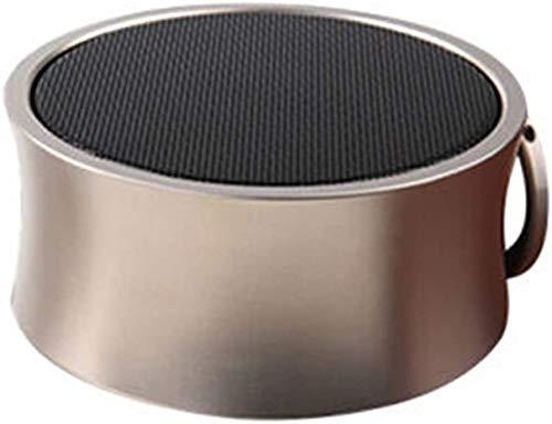 Mopoq Drahtlose Bluetooth-Lautsprecher - bewegliche Mini-Karte Kleiner Ton Metall Kanone Subwoofer-Computer Externer Musik-Player-Auto-Lautsprecher (Color : D)