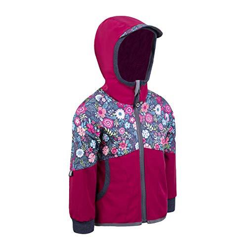 unuo Softshell Jacke ohne Isolierungsschicht ohne ungefüttert Wasserabweisend und Winddichte Outdoor Full-Zip Funktionsjacke Atmungsaktive Freizeitjacke für Kinder
