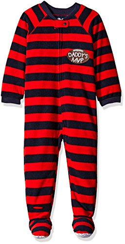The Children's Place Baby Boys Long Sleeve One-Piece Pajamas 2, Mom's Heart (Brook) 78712, 6-9 Months