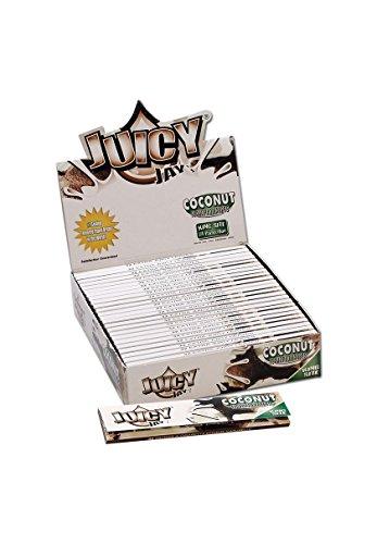 Juicy Jay 18627 s KS Slim-Coconut-Flavored Papers-24 Heftchen a 32 Blatt, Papier