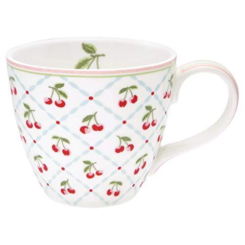 GreenGate - Tasse, Kaffeetasse - Mug - Cherie - Porzellan - weiß - Höhe 9 cm