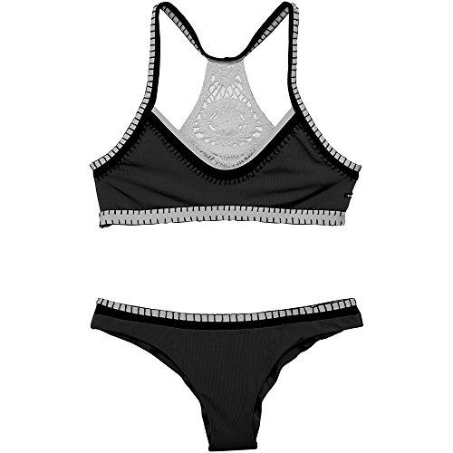 Chiemsee Dames effen met gehaakte details bikini
