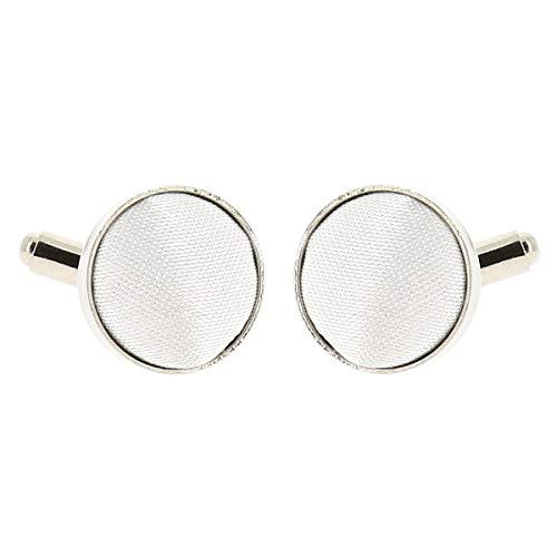 Boutons de Manchette Blanc pour Homme - Accessoire Poignet Chemise et Veste de Costume - Mariage, Cérémonie