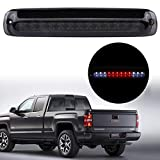 KOROP LED Tail High Mount 3rd Third Brake Light Cargo Lamp Fits for 1999-2006 Chevy Silverado GMC Sierra 1500 2500 HD 3500 / 2007 HD Classic , Replaces# 5978318 , Black Housing Smoke Lens Waterproof