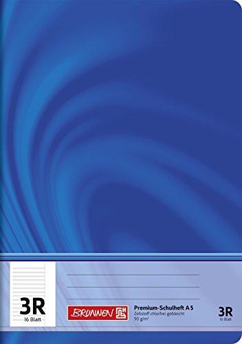 Brunnen 104570323 Schulheft A5 Vivendi (32 Blatt, liniert, mit Rand, Klasse 3)