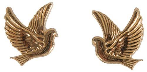 Rayher 31555616 Wachsmotiv Taube, gold, 2,2 x 2,7 cm, 1 Paar, zum Gestalten von Kerzen (Firmung, Konfirmation, Taufe, Hochzeit etc.)