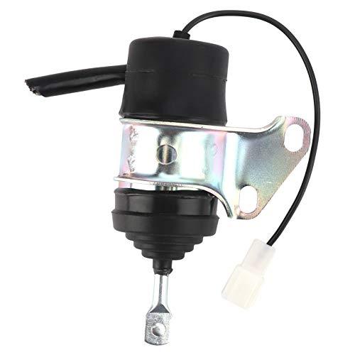 Interruptor de llama estable Válvula solenoide de parada de llama de carcasa de hierro DC 12V Durable para excavadoras pequeñas Kubota