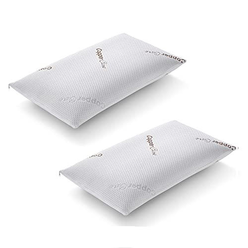 Nature Bedding Par de almohadas de espuma viscoelástica, juego de 2 almohadas antiácaros, modelo Saponetta