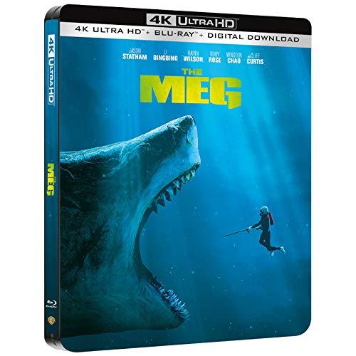 MEG 4K Steelbook, Blu-ray, UK-exklusiv,e, OOP, Deutscher Ton auf 4K UHD + Blu-ray, 2D Blu-ray ohne deutschen Ton, Uncut,