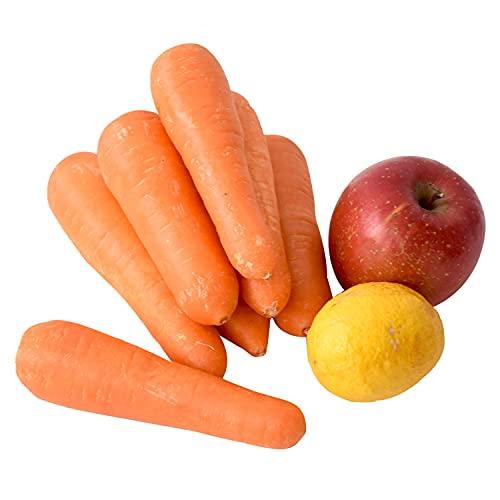 にんじん ジュース 1dayセット ( 農薬・化学肥料不使用 人参 1kg + りんご 1個 + レモン 1個 ) 訳あり