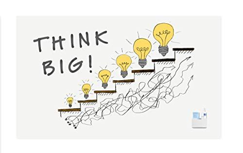 Legamaster 7-106112  Wall-Up,  rahmenloses Whiteboard, emailliert, Paneel für fortlaufende Schreibflächen im XL Format, 200 x 119,5 cm