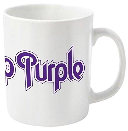 Plastic Head Deep Purple Logo–Taza, Color Blanco