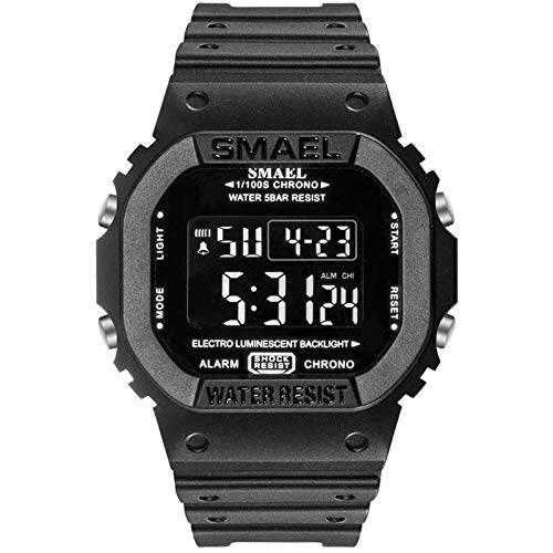 UINGKID Herren Uhr analog Quarz Armbanduhr wasserdicht Uhren Casual Digital Dial Comfort Strap Im Freien e Uhr