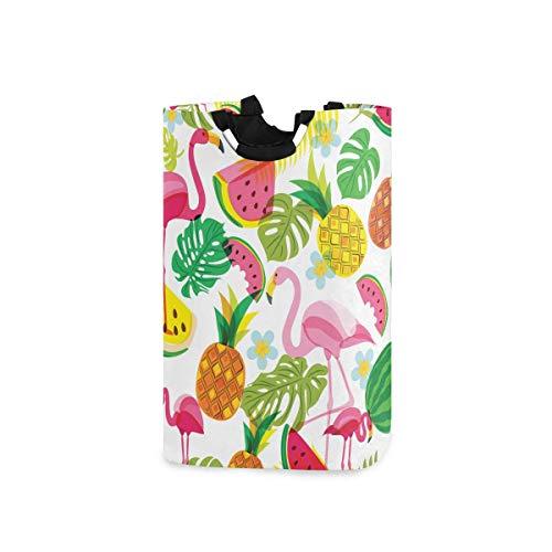 N\A Cesto de lavandería Cubo Plegable Plegable Cesto de lavandería Cubo de Lavado Flamencos de Frutas para el Organizador del hogar Almacenamiento de guardería Cesto de bebé Habitación de niños