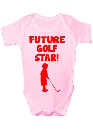 Future Golf Star Sport Funny Body bébé Cadeau Tailles 0–3 mois à 12–18 mois - Rose -