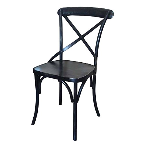 Better & Best Silla thonet de Hierro, Color Negro decapado, Metal, 42.00x52.50x88.00 cm