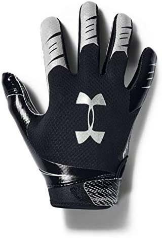 Under Armour Boys F7 Youth Football Gloves Black 001 Metallic Silver Youth Medium product image